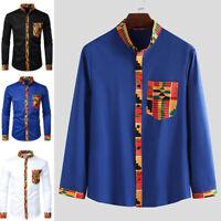 INCERUN Men's African Dashiki Blouse Long Sleeve Tops Tee Casual Tribal Shirts