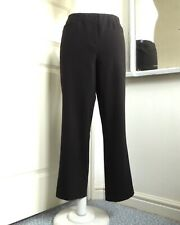 ROBELL Jacklyn Trousers 7/8 Crop Elastic Stretch Straight Leg Black EU 40 UK 14