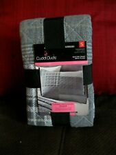 NIP CUDDL DUDS STANDARD SHAM QUILTED GRAY PLAID PATCHWORK FLANNEL Live in Layers