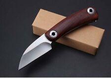 Free shipping Wood handle 5CR15MOV Blade No Lock Folding Knife EDC CMB34