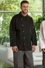Uncommon Threads Unisex Chef Coat Jacket CALIENTE color Black 0492 size Large