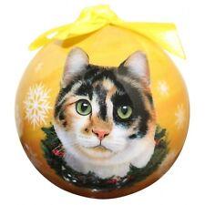 Calico Cat ~ Christmas Ball Ornament