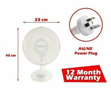 23cm Oscillating Fan Desk Desktop Floor Tilt Personal Air Cooler Cooling AU Plug