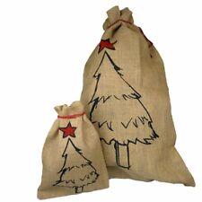 "Santa Claus Sack Feinjute "" Fit Tree "" Gunnysack Christmas Boot Present Sack"