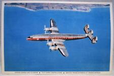 TCA AIR CANADA AIRLINES SUPER CONSTELLATION AIRPLANE SOUVENIR POSTCARD VINTAGE