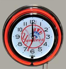 New York Yankees Neon Clock New Quartz Wall Clock MLB Lifestyle Lighting