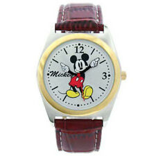 Disney Mickey Mouse Brown Band Analog  UNISEX Watch MCK623 38 MM new in box