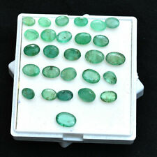 27 Pcs Natural Emerald Colombian Lot Untreated Sparkling Green Gems~34.50 Cts