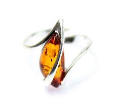 Lovely Baltic Amber & 925 Sterling Silver Designer Ring GL402A2