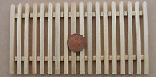 1:12 Scale Single Natural Finish Wood Picket Fence Dolls House Garden Accessory