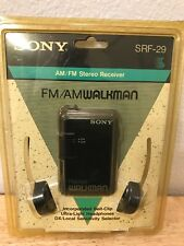 Sony SRF-29 Walkman Radio FM/AM Stereo Receiver Sealed With Headphones