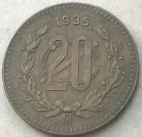 1935 Mexico 20 Centavos