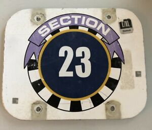Section 23 Sign - Jack Murphy Qualcomm Stadium Chargers Padres - AUTHENTIC