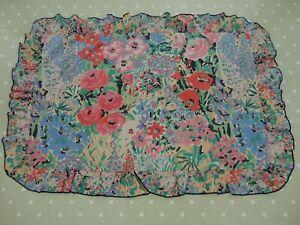 Dorma vintage poly cotton floral pillowcase frilled