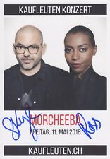 MORCHEEBA Werbe AUTOGRAMMKARTE original signiert IN PERSON Autogramm RAR