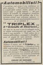 Z2059 TRIPLEX il cristallo di sicurezza - Pubblicità d'epoca - Advertising