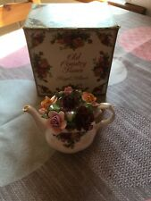 Royal Albert Old Country Roses Minature Teapot With Roses 1962