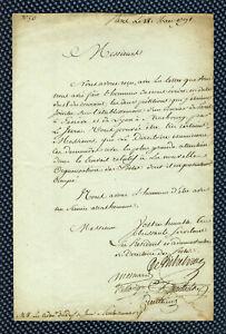 Révolution - Lettre du directoire des Postes signée de tous ses membres - 1792