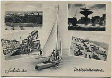 PORTOCIVITANOVA (MACERATA), SALUTI, 4 VEDUTE + RAGAZZE IN BARCA A VELA, 1956   m