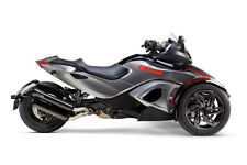 2013-2014 CanAm Spyder RS ST Two Brothers Carbon Fiber Slip On Exhaust Black