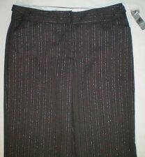 NEW womens size 12 X 31 gray black WORTHINGTON sparkly pinstriped dress pants