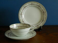A Noritake Porcelain Trio in Glenwood with Platinum Trim
