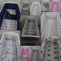 6 Pcs Nursery Bedding Set Fit to CRIB / Cradle 90x40cm ALL AROUND Bumper COTTON