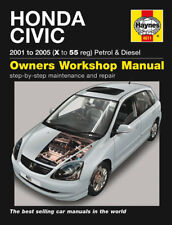 H4611 Honda Civic Petrol & Diesel (2001 to 2005) Haynes Repair Manual