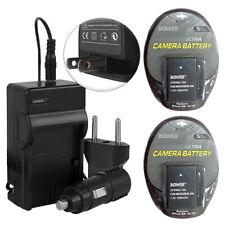 2 Battery Packs EN-EL14 + Charger for Nikon D5300 D5200 D5100 D3300 D3200 D3100