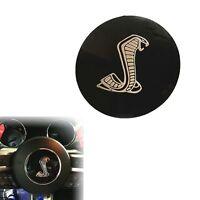 85mm Black Cobra Car Steering Wheel Center Badge Sticker for New  Shelby