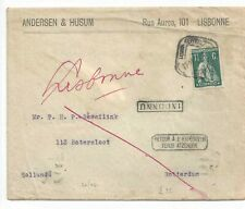 Portugal cover CERES stamps from Lisbon to Rotterdam INCUNNU returned to sender!