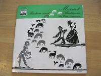 """10"""" LP Mozart Bastien und Bastienne Wiener Sängerknaben Vinyl EMI E 60 054"""
