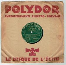 78T 25cm Lilian HARVEY & Henry GARAT Disque MON AMOUR JE DANSE ..-POLYDOR 521898