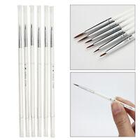 6Pcs Detail Paint Brush Set 6 Miniature Art Brushes For Fine Detailing & Art