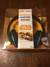 Star Wars CHEWBACCA Headphones w/ Line In Microphone iHome Disney New