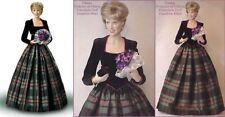 """Diana Princess of Charm Porcelain Portrait 18"""" Doll Franklin Mint Scotland Plaid"""