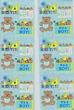 Sandylion IT'S BABY BOY Scrapbooking Stickers *FAST SHIP* G117 *6 Squares*