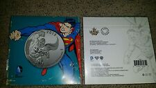 2015 Superman $20.00 Silver Coin Canada DC Comics Man Of Steel Series