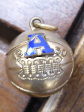 "Dated 1950 1/15 10K Gold Basketball ""A"" Charm Pendant - Vintage"