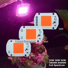 220V 110VAC  20/30/50W Full Spectrum LED COB Chip Grow Light Plant Growth Lamp