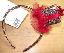 NEW H&M GIRLS GIFT WRAPPED PRESENT BOX GLITTER SPARKLE HEADBAND COSTUME DRESS-UP