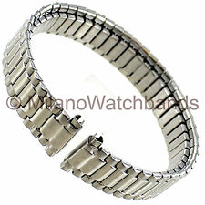 9-12mm Speidel Ladies Silver Tone Stainless Steel Euro-Flex Stretch Watch Band