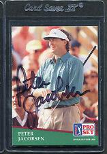 1991 Pro Set Golf Peter Jacobsen #171 Signed Autograph