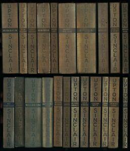 Upton Sinclair: Gesammelte Werk in Einzelausgaben (1925-38). Zusammen 22 Bände.
