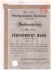 Stadtgemeinde Karlsbad, 1892, 500 Mark