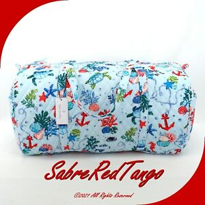 NWT VERA BRADLEY QUILTED LARGE TRAVELER DUFFEL GYM BAG ANCHORS AWEIGH