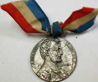 1909 Abraham Lincoln Centennial Red White and Blue Circulated Silver Medal
