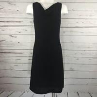 Victoria Secret Moda International Sleeveless Open Back Little Black Dress Sz S