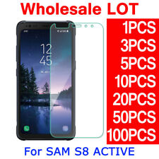 LOT Tempered Glass Screen Protector Film Guard For Samsung Galaxy S8 Active G892