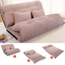 Modern Foldable Leisure Sofa Adjustable Bed Video Gaming Sofa with 2 Pillows